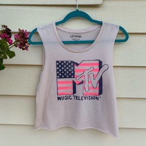 AMERICAN EAGLE MTV MUSIC SLEEVELESS CROP TOP